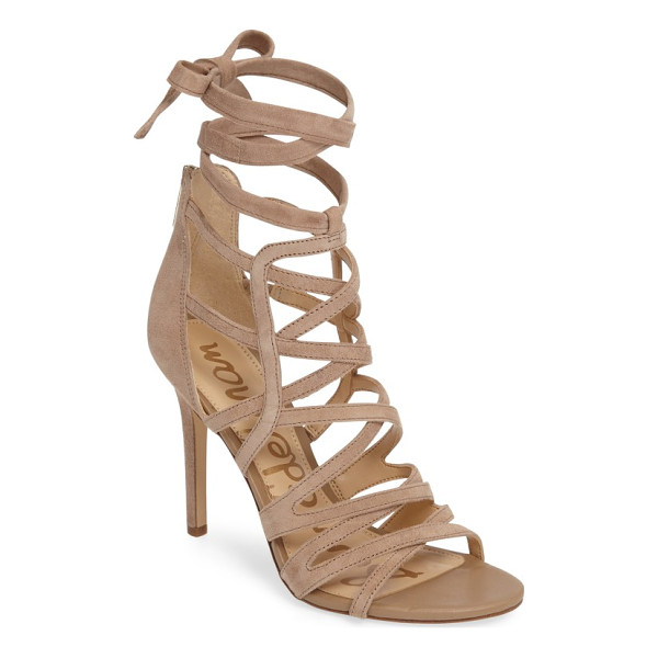 SAM EDELMAN alba wraparound cage sandal - Slender straps crisscross seductively up the cage of a