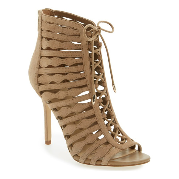SAM EDELMAN amelia ghillie cage sandal - Shaped straps and ghillie lacing detail a breathtaking cage...