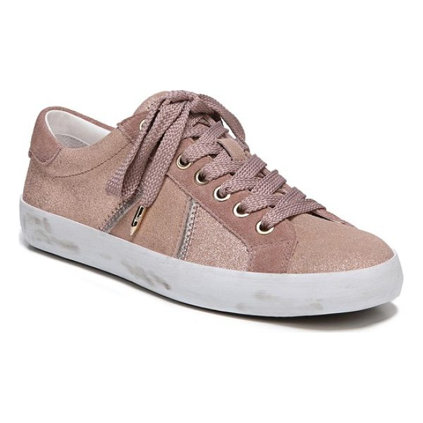 SAM EDELMAN baylee sneaker - Metallic accents add just-right shimmer to an everyday...