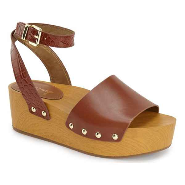 SAM EDELMAN brynn sandal - A chunky wood-like platform sandal channels '70s glam with...