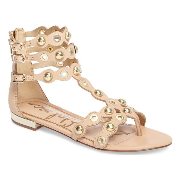 SAM EDELMAN desi sandal - Rounded studs and flat grommets detail a chic sandal in a...