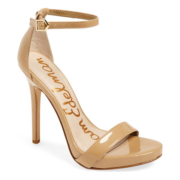 SAM EDELMAN eleanor ankle strap sandal - A daring sky-high stiletto takes this platform sandal to...