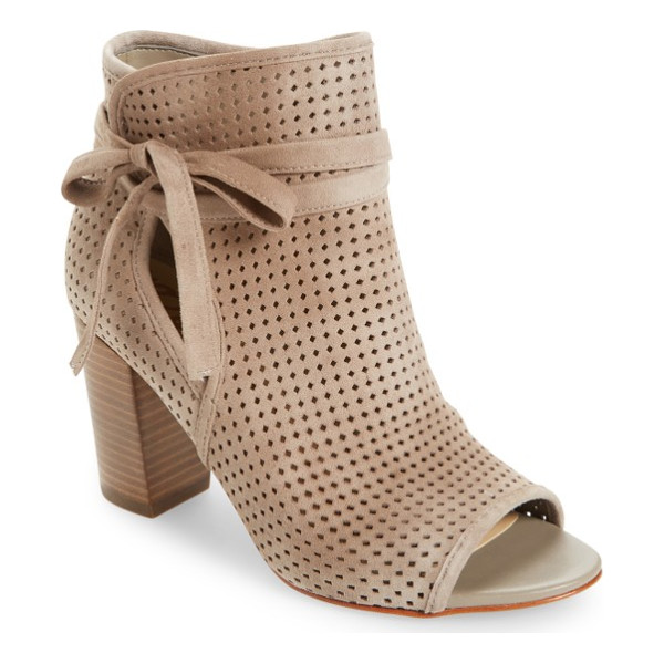 SAM EDELMAN ellery open toe bootie - A perforated upper and open toe add breezy updates to a