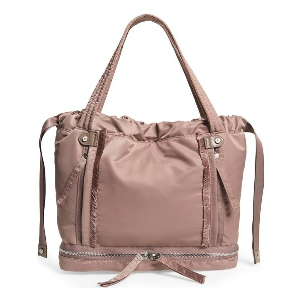 SAM EDELMAN emilee tote - A roomy tote with frayed trim features a slouchy silhouette...