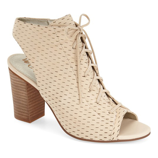 SAM EDELMAN ennette perforated lace up bootie - A slingback bootie balances vintage and modern influences...