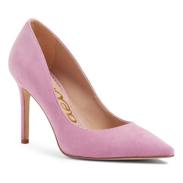 SAM EDELMAN hazel pointy toe pump - A classic stiletto adds leg-lengthening lift and timeless...