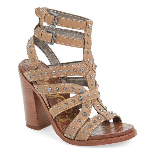 SAM EDELMAN keith studded sandal - Polished cone studs play up the edgy attitude of a dramatic...