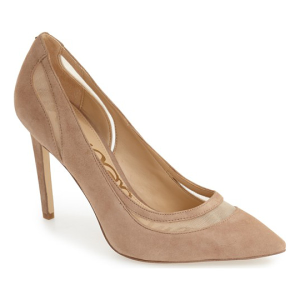 SAM EDELMAN 'nixon' pointy toe pump - Crafted of lush suede, this dramatic pointy-toe pump gets a...