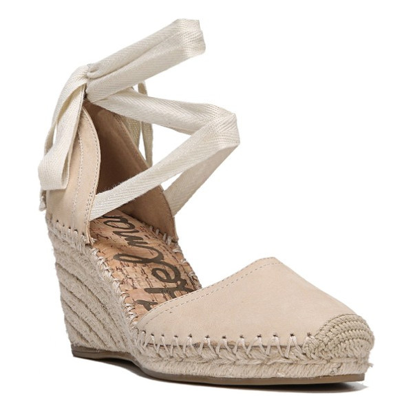 SAM EDELMAN patsy wraparound espadrille wedge - Sam Edelman elevates the classic summer espadrille on a...