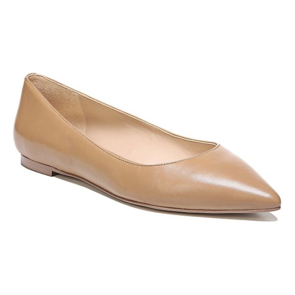 SAM EDELMAN rae pointy toe flat - A shorter vamp and a pointy toe bring trend-essential...