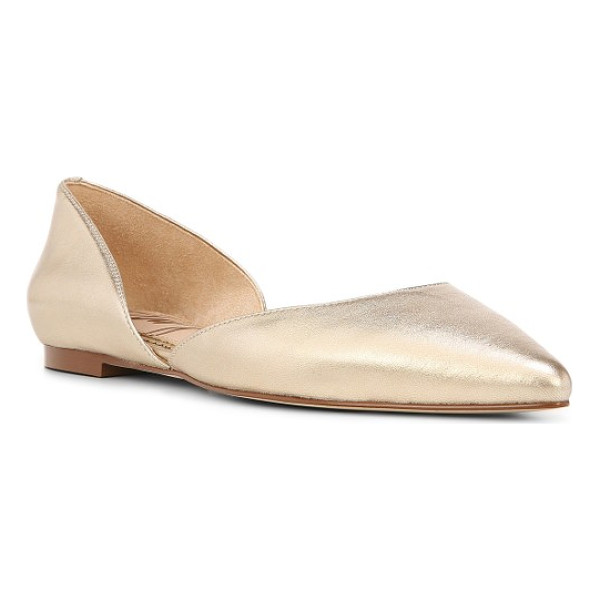 SAM EDELMAN rodney pointy toe d'orsay flat - A d'Orsay profile makes this pointy-toe flat an impeccably...