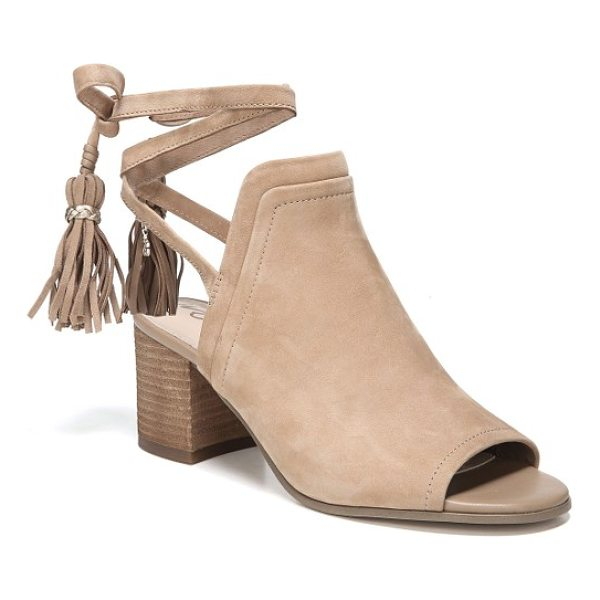 SAM EDELMAN sampson block heel bootie - Clean lines highlight the timeless appeal of a peep-toe...