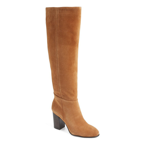SAM EDELMAN 'silas' knee high boot - A stacked block heel updates the aesthetic of a sleek,...