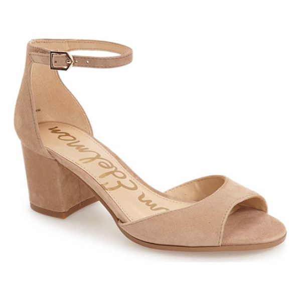 SAM EDELMAN susie d'orsay ankle strap sandal - A low d'Orsay profile is balanced by a slender ankle strap