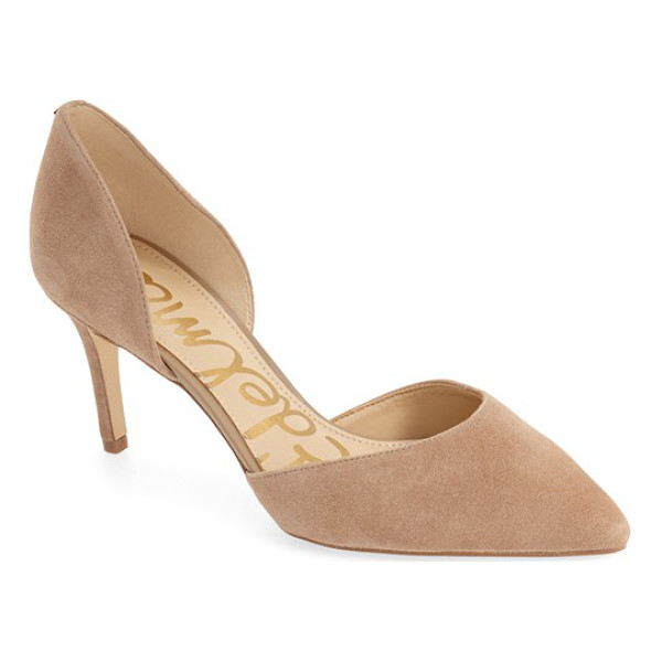 SAM EDELMAN 'telsa' d'orsay pointy toe pump - This essential pump is crafted in a trend-right d'Orsay