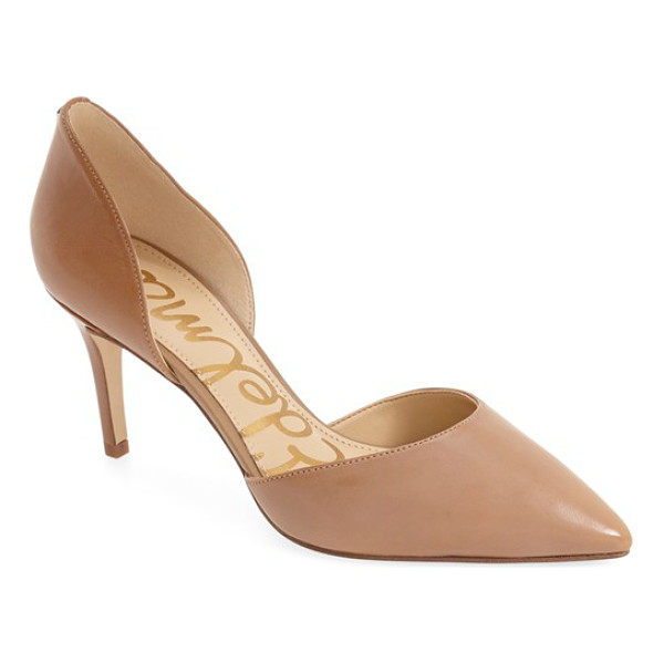 SAM EDELMAN 'telsa' d'orsay pointy toe pump - This essential pump is crafted in a trend-right d'Orsay...