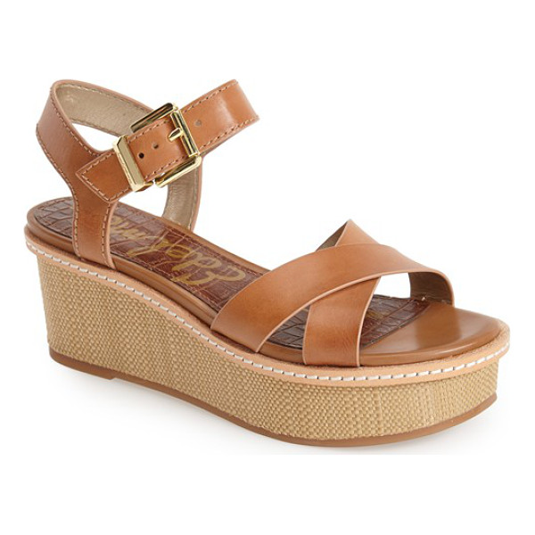 SAM EDELMAN tina wedge sandal - Get in on the season's basket-weave trend with Sam...