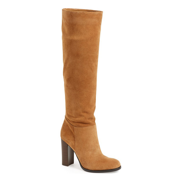 SAM EDELMAN 'victoria' slouch boot - A tall, stacked heel brings a fresh, contemporary look to a...