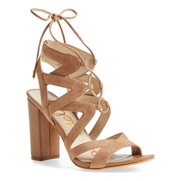 SAM EDELMAN 'yardley' lace-up sandal - A trend-savvy lace-up sandal shaped from supple suede...