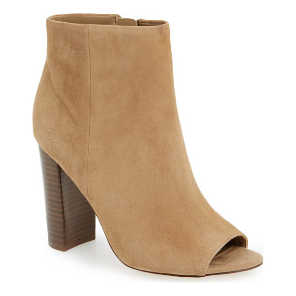 SAM EDELMAN 'yarin' open toe bootie - A minimalist bootie crafted of buttery suede features a...