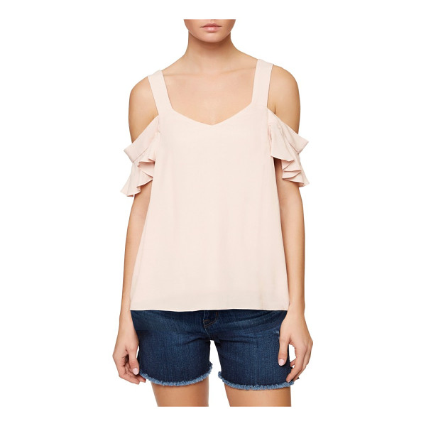 SANCTUARY annie cold shoulder blouse - Fluttery little sleeves romance the cold-shoulder styling...