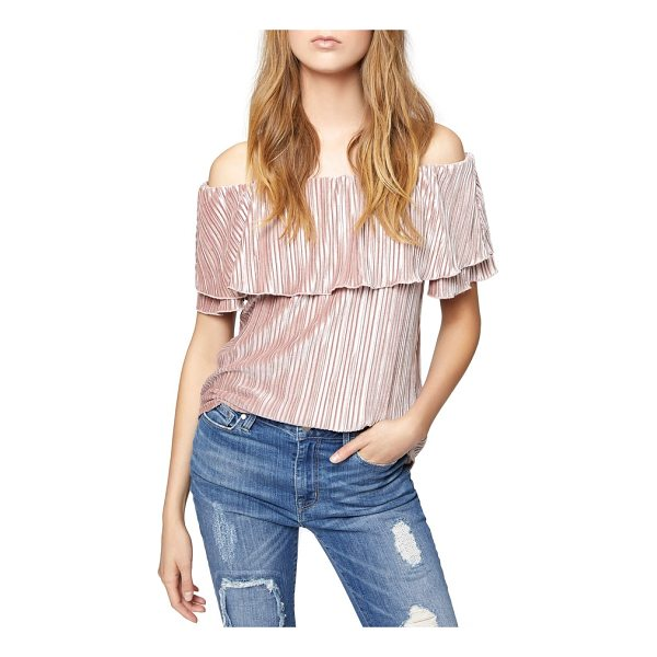 SANCTUARY celeste off the shoulder top - A rich, satiny sheen emboldens this enchanting blouse...