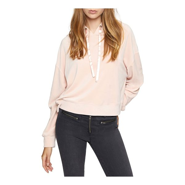 SANCTUARY melrose brigade velour hoodie - Sumptuous velour adds luxe texture to a comfy slouched...