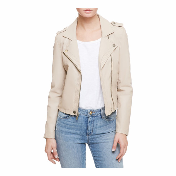 SANCTUARY one of a kind moto jacket - Iconic moto style lightens up for a new season in pale...
