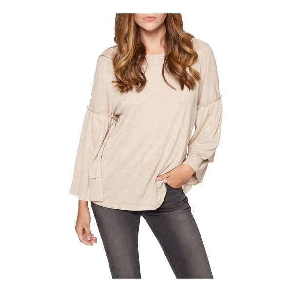 SANCTUARY rosamund knit top - This soft and fluid knit top keeps you on trend with tiered...