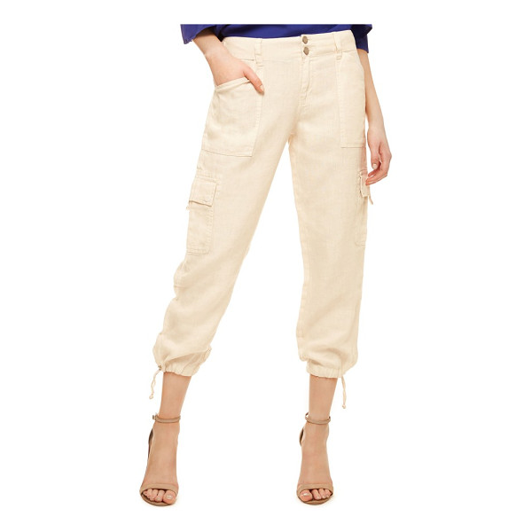 SANCTUARY terrain linen crop cargo pants - Crop-length cargos cut from lightweight woven linen are...