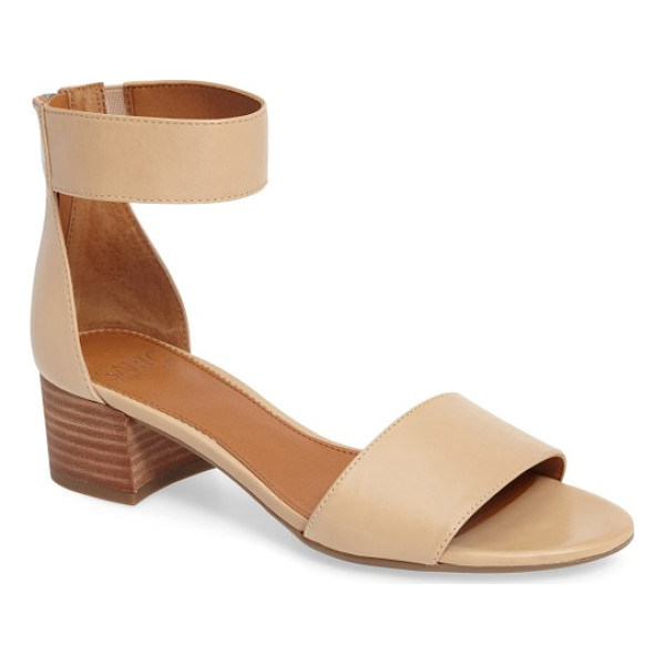 SARTO BY FRANCO SARTO 'fidela' block heel sandal - Laser-cut straps add visual interest to a minimalist block...
