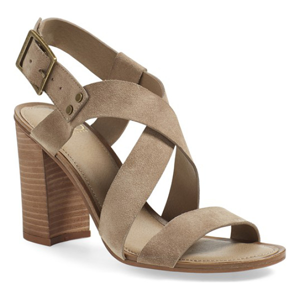 SARTO BY FRANCO SARTO Franco sarto sabine block heel sandal - Crisscrossing straps shaped from smooth leather or lush...