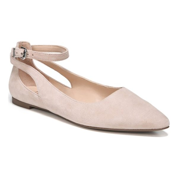 SARTO BY FRANCO SARTO sylvia ankle strap flat - Delicate side cutouts and a slender ankle strap provide the...