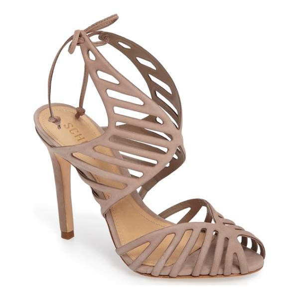 SCHUTZ anamelia strappy cage sandal - Slender cage straps, a d'Orsay toe and a towering stiletto...