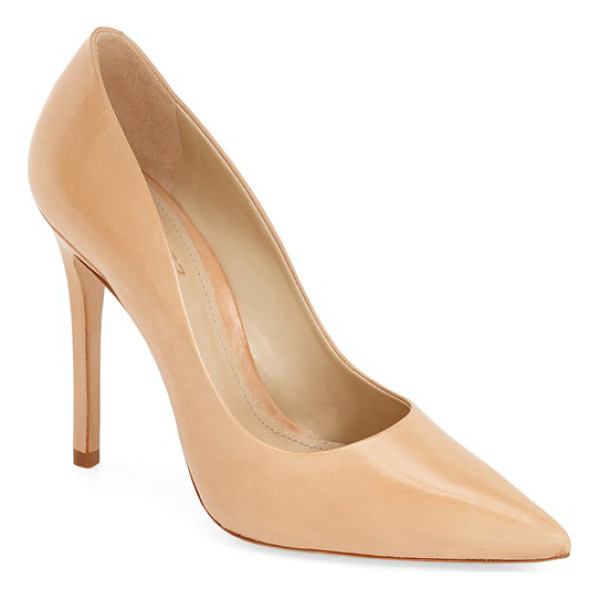 SCHUTZ gilberta pump - A square stiletto heel lends a modern, angular touch to a...