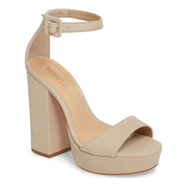 SCHUTZ mikella sandal - A bold block heel and platform underscore the retro...