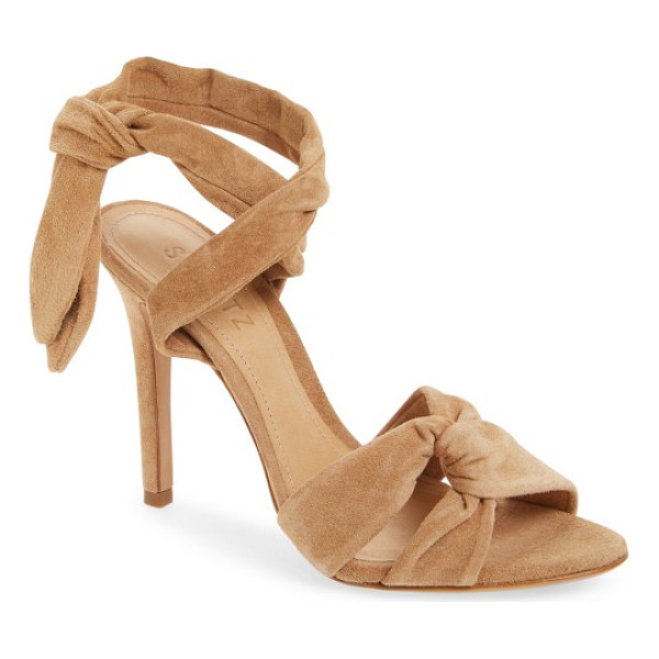 SCHUTZ monia sandal - Casually knotted straps and soft, plush suede relax the...