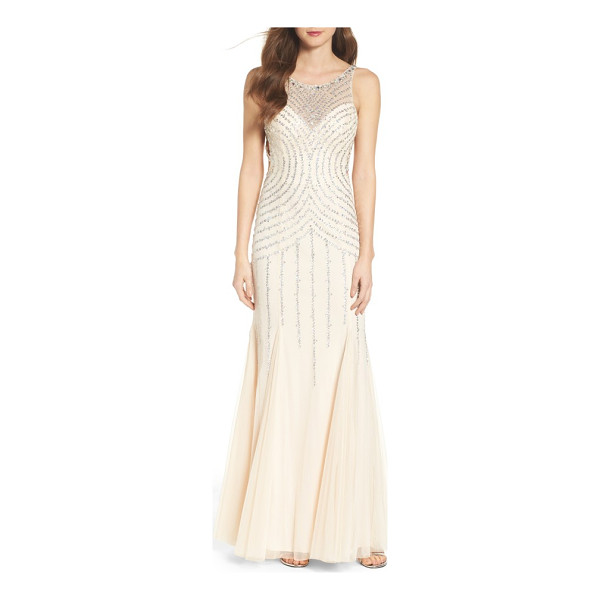 SEAN COLLECTION embellished mesh mermaid gown - A dazzling array of sequins and beadwork illuminates this...