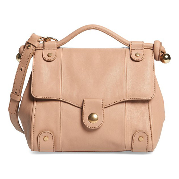 SEE BY CHLOE Dixie leather crossbody bag - Supple topstitched leather accented by gleaming goldtone...
