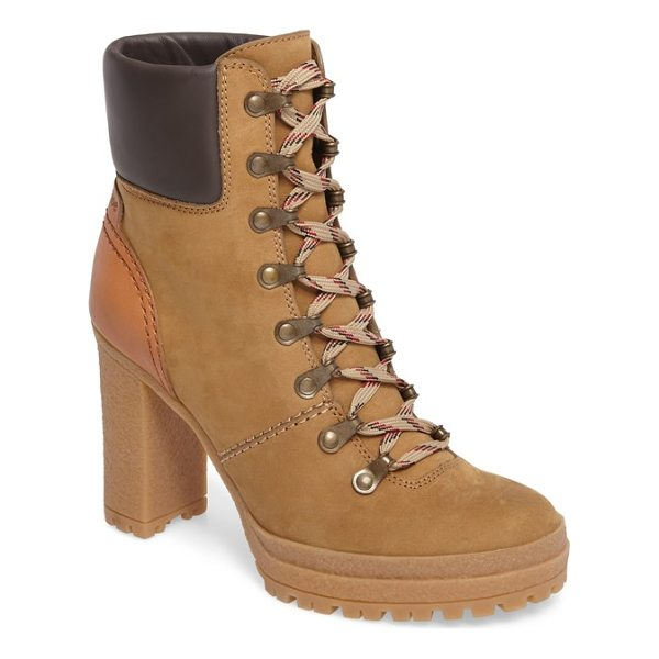 SEE BY CHLOE eileen platform boot - A street-chic take on the vintage hiking boot is crafted of...