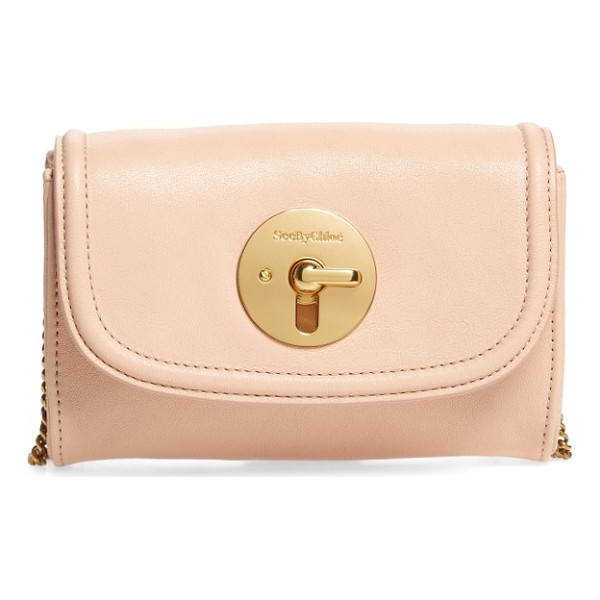 SEE BY CHLOE mini leather crossbody bag - Signature goldtone hardware shines on a petite handbag...
