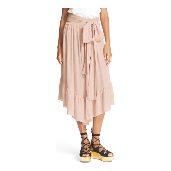 SEE BY CHLOE ruffle crop pants - A bold tie adds feminine definition to the waist of...