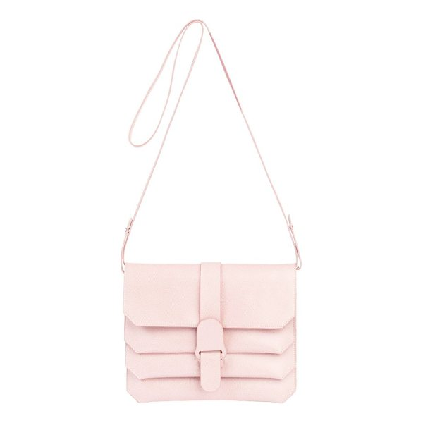 SENREVE pebbled leather crossbody bag - Compact yet roomy, this versatile crossbody bag crafted in...