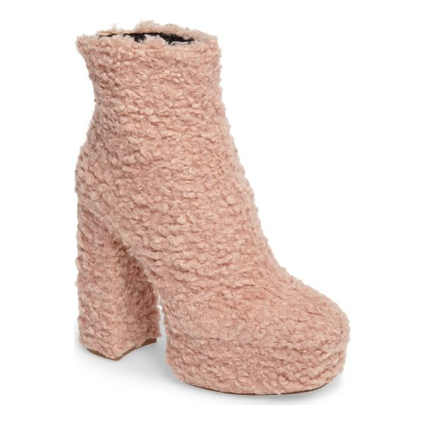 SHELLYS LONDON forrest faux shearlng platform bootie - Extra-woolly faux shearling texture adds a playful element...