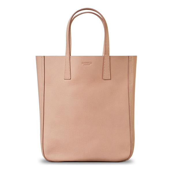SHINOLA mini leather shopper - Streamlined yet deceptively spacious, this luxe shopper is...