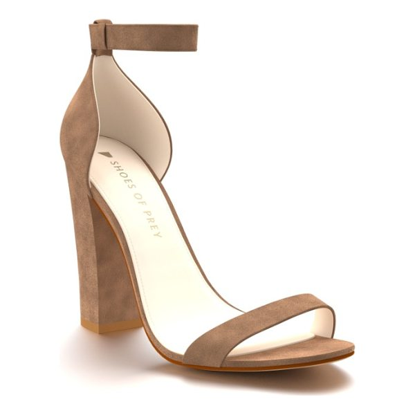 SHOES OF PREY ankle strap sandal - A chunky wrapped heel adds to the modern style of a...