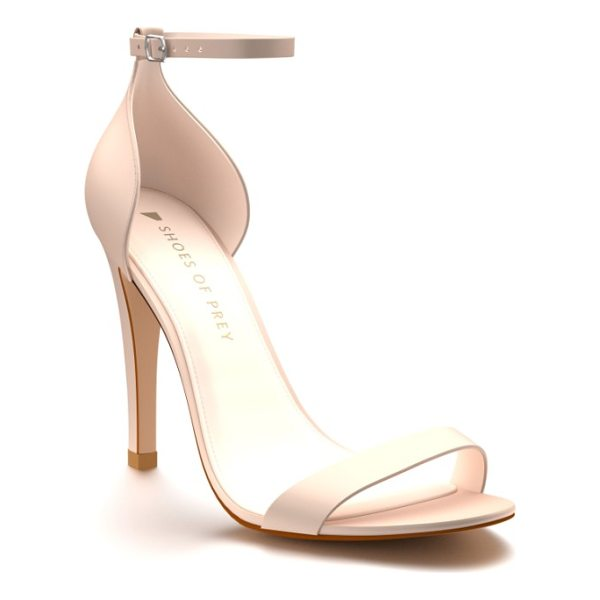 SHOES OF PREY ankle strap sandal - A sandal meant for dropping jaws with its simplicity, this