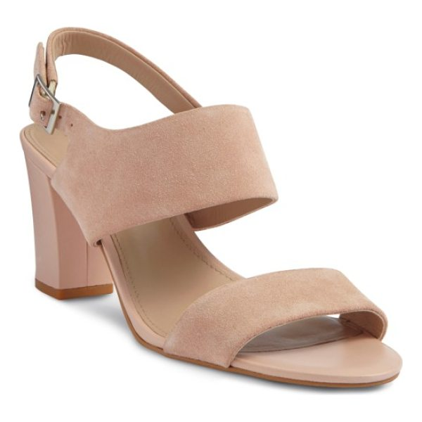 SHOES OF PREY strappy sandal - Wide straps bring effortless, modern minimalism to a...