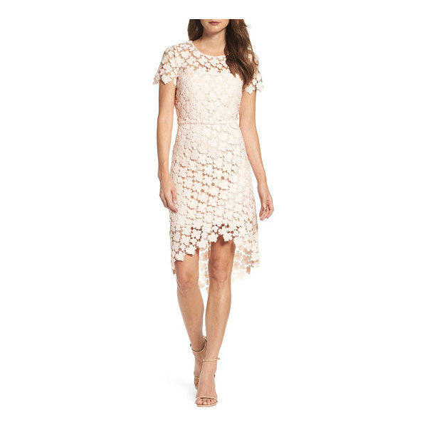 SHOSHANNA baylor lace sheath dress - Crocheted daisies lighten the look and feel of a...