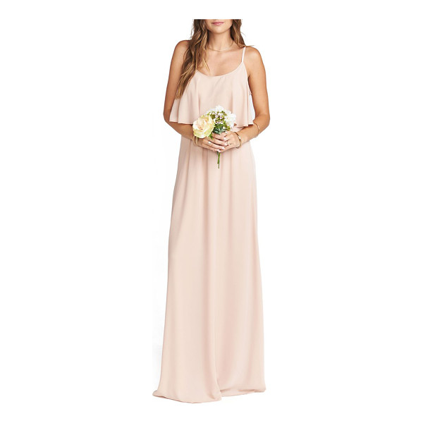 SHOW ME YOUR MUMU caitlin cold shoulder chiffon gown - This flirty, floaty gown has a ruffled bodice overlay with...